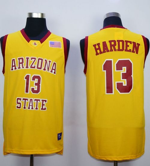 release date c32d5 0aaf1 Sun Devils #13 James Harden Gold Stitched NCAA Basketball ...