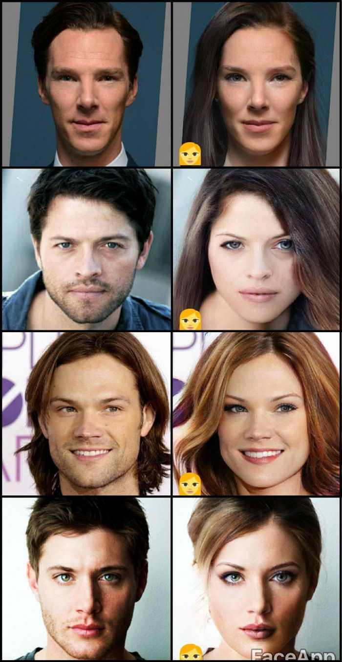 So, I tried that app that genderswaps you and I got a little carried away and now... #SPN #Supernatural
