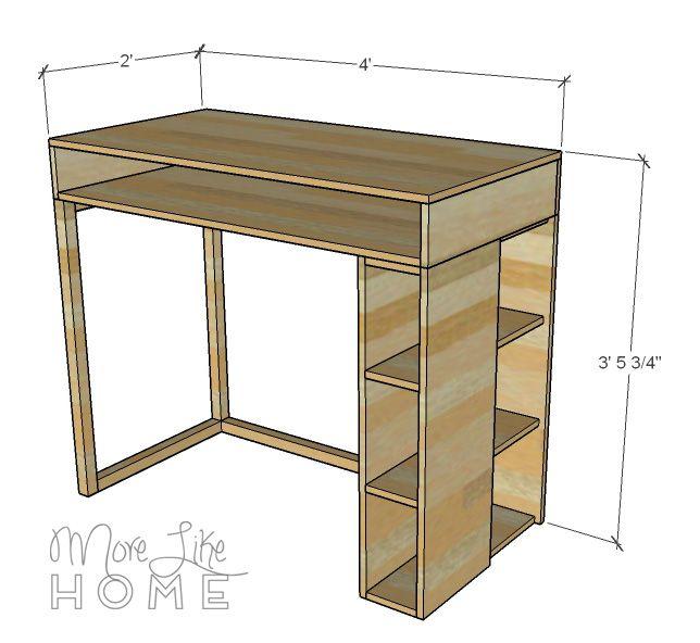 Diy Desk Series 14 Standing Desk W Side Shelves Office Furniture Diy Diy Desk Plans Diy Desk