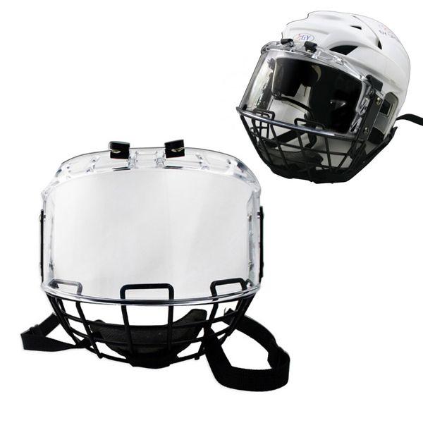 O envio gratuito de hóquei no Gelo capacete combinação com metal máscara viseira do PC para o jogador capacete