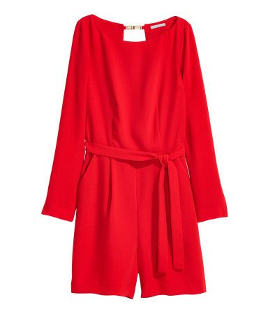 Korte jumpsuit | Rood | Dames | H&M NL red