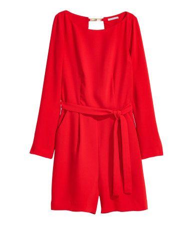 Short Jumpsuit | Red | Ladies | H&M US