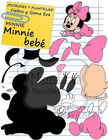 Plantillas Clasicos Disney Minnie