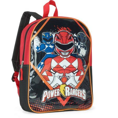 Saban Power Rangers 15 inch Full-Size OPP Backpack, Black