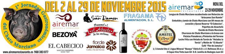 ATENCIÓN, ÚLTIMA SEMANA DE LAS JORNADAS GASTRONÓMICAS DEL CHATO MURCIANO, ¡  no te quedes sin probar nuestra propuesta culinaria para esta semana ! tan sólo 24,00 euros ¡ reserva ya ! 968383077
