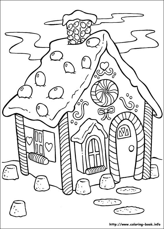 gingerbread house coloring picture | Christmas Coloring ...