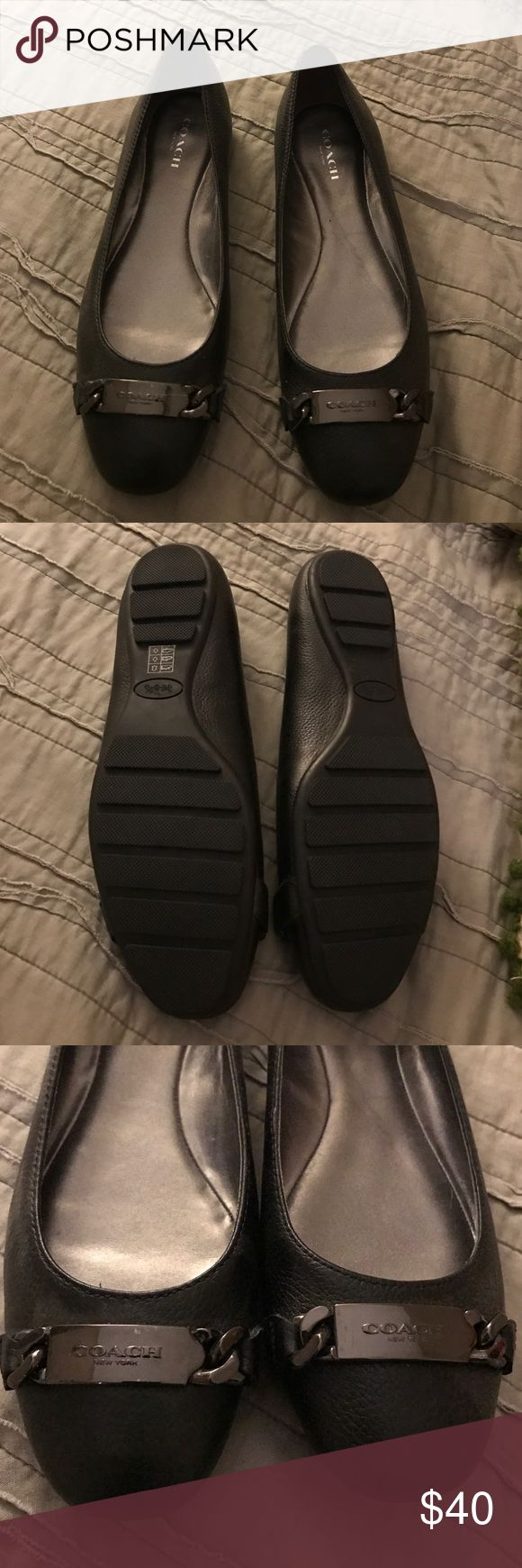 Coach flats-- never worn! Gorgeous Coach flats, never worn. In perfect condition. The perfect black flat every girl needs in her closet! Coach Shoes Flats & Loafers