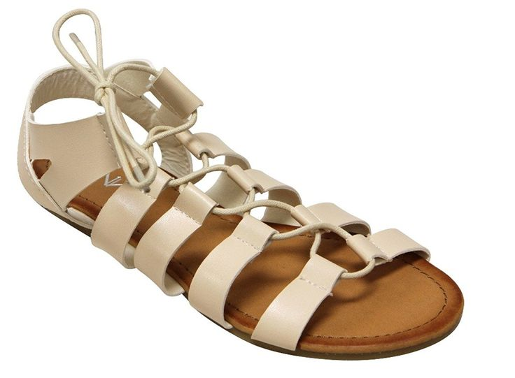 Anna Brina-15 women's slingback gladiator stripes open toe sandals ** You can get more details by clicking on the image.