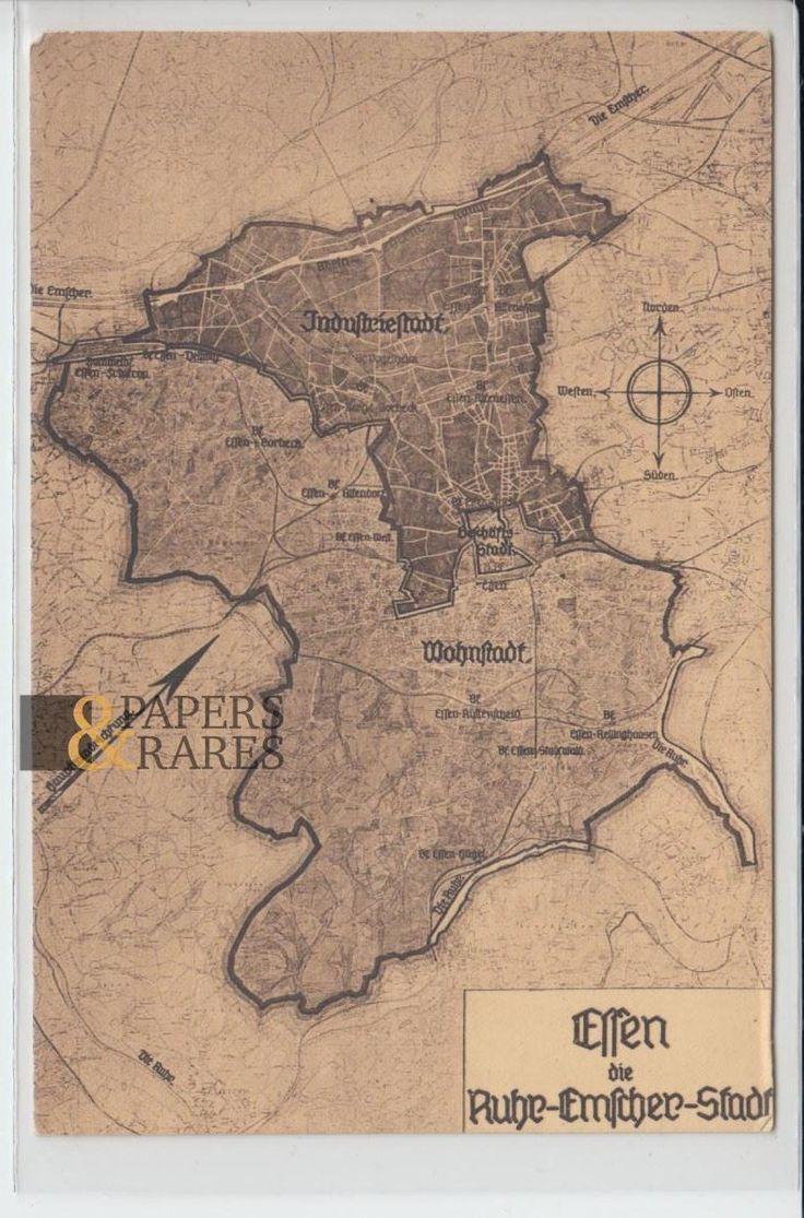alte Ansichtskarte von Essen, die Ruhr-Emscher-Stadt,