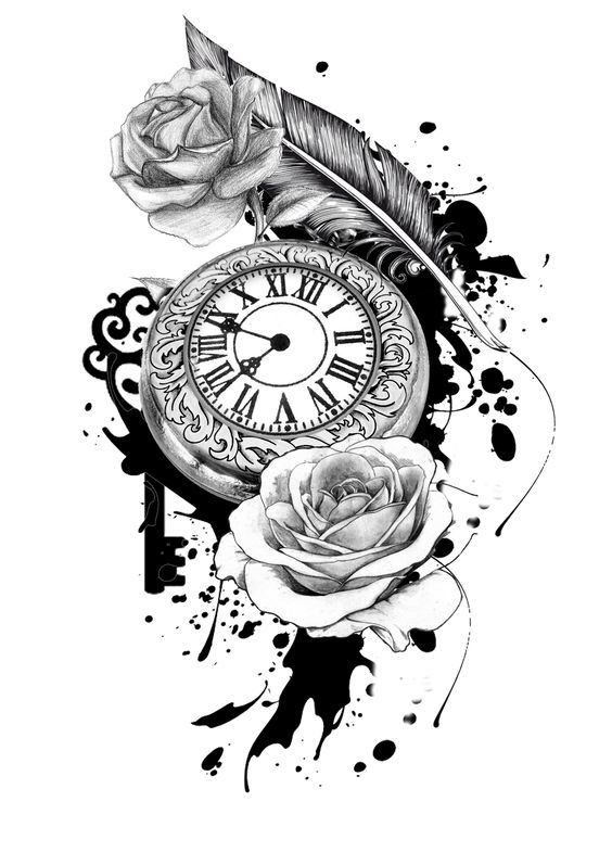 Pocket watch tattoo sketch  Die besten 25+ Taschenuhr Tattoo Design Ideen auf Pinterest ...