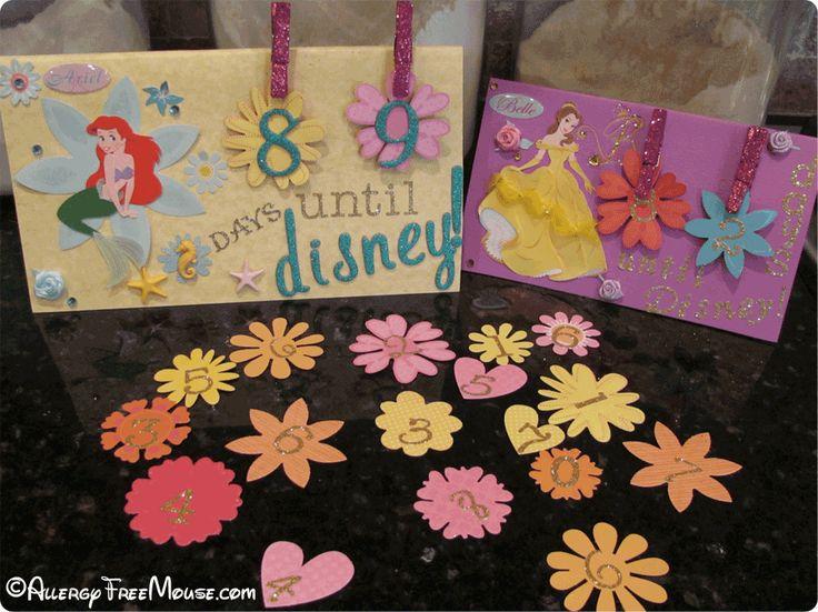 Princess theme Disney World countdown calendar