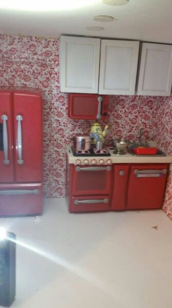 American girl diy kitchen.  Follow my dolls house ideas on pinterest for more inspiration