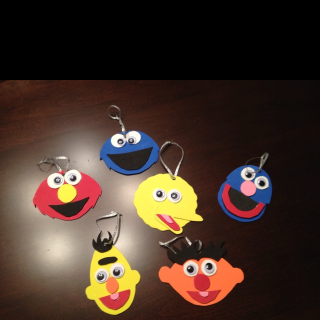 Sesame street character Christmas ornaments