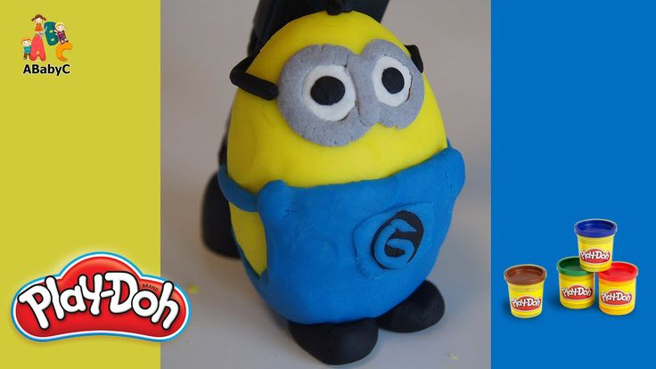 How to make Minions with playdoh - Play-Doh creation