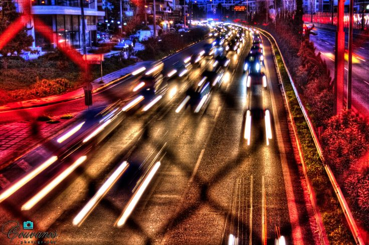 Night at National Road (Athens-Thessaloniki)
