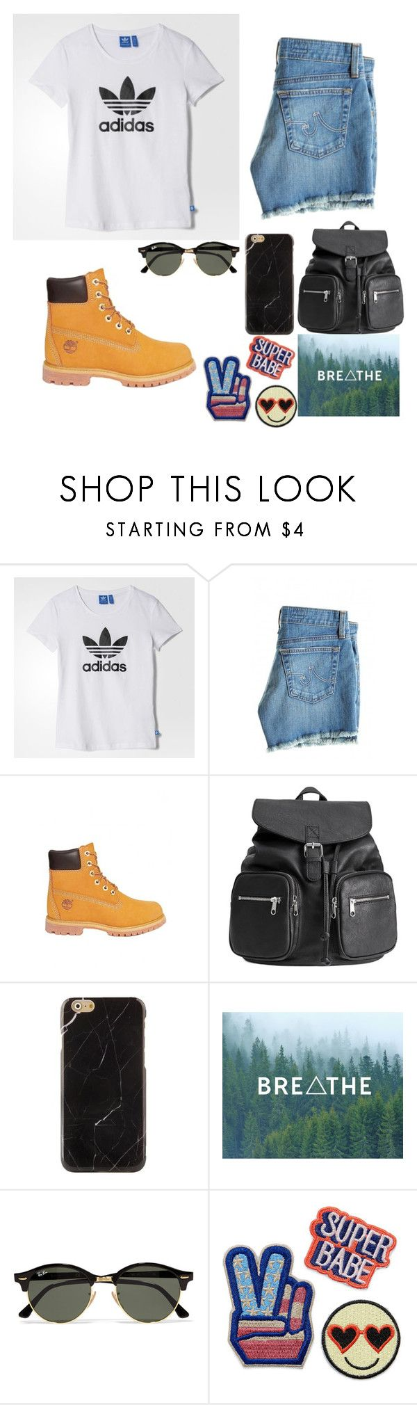 Untitled #4 by raven-blackk on Polyvore featuring adidas, AG Adriano Goldschmied, Timberland, H&M and Ray-Ban