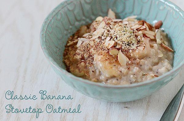 Classic Banana Stovetop Oatmeal {Recipe} - The Chic Life