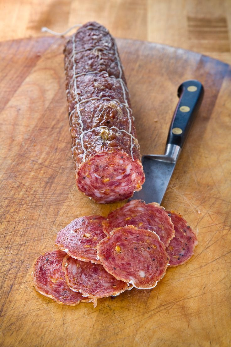 Agrumi Salami (Salumi Artisan Cured Meats - Seattle, WA) - A recent creation cured with citrus and cardamom