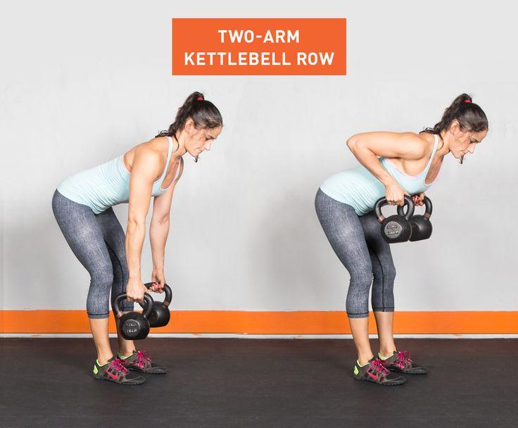 Two-Arm Kettlebell Row #fitness #kettlebell #exercises