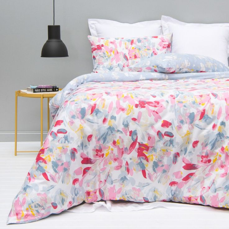 From a single bed to a super king size, check out our latest collection of quilt cover sets & modernise your bedroom style. Shown here in 'Florence' - a pretty Spring dream design!