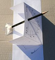 Make Your Own Sundial - it's easy to do and a fun way for your children to understand the time
