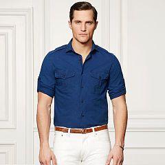 Bond Chambray Sport Shirt - Purple Label Standard-Fit - RalphLauren.com