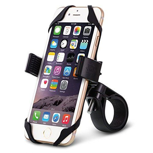 ODIER Bike Phone Mount Bicycle Motorcycle Cell Phone Mount Holder for 3.5In to 7In Smart Phone Fits iPhone 6 Plus Samsung Galaxy S6 S7 Note 5 for Yeti Time GT Trek MTB Road Bikes (Black)