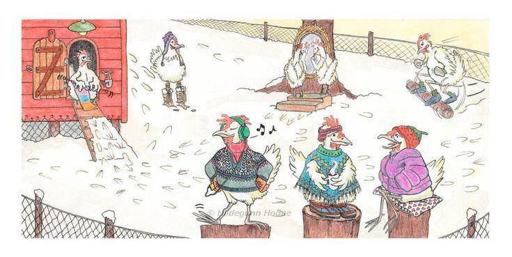 Happy Winter Chickens