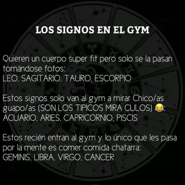 Los signos en el gym