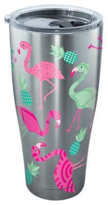 Tervis Tumbler Flamingos Stainless Tumbler with Clear Lid - 30 oz