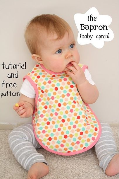 baby apron pattern: I wish I had this earlier because this is way better than a regular bib