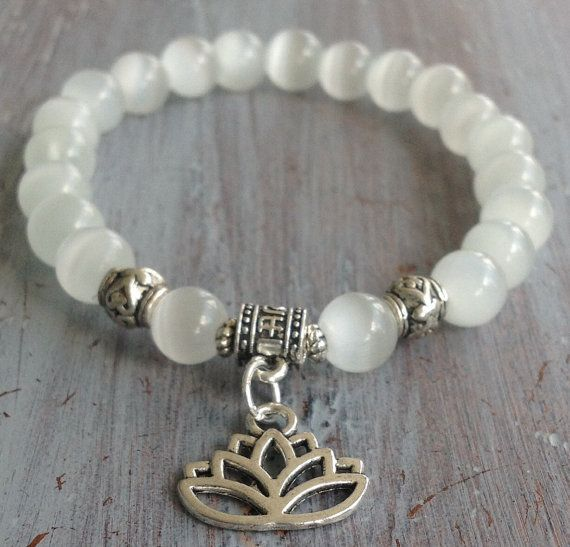 Lotus Flower Bracelet Boho Beaded Bracelet Boho by indietiez