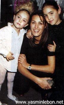 Simon, Yasmin, Amber, Saffron & Tallulah Le Bon 1995