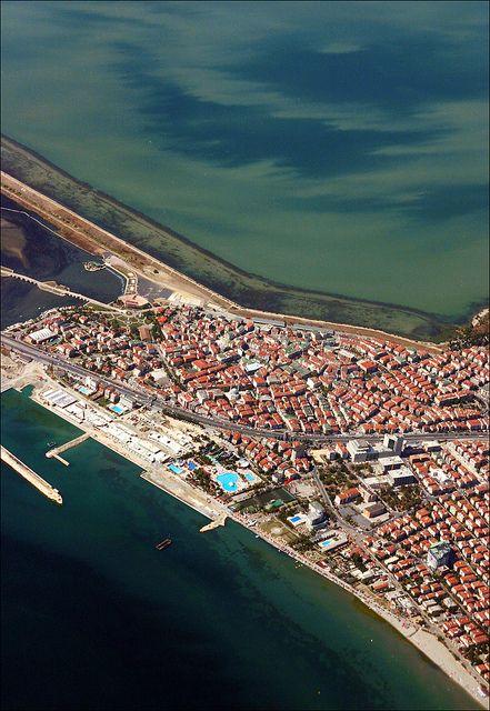aerial view of a part of Büyükçekmece - an Istanbul suburb