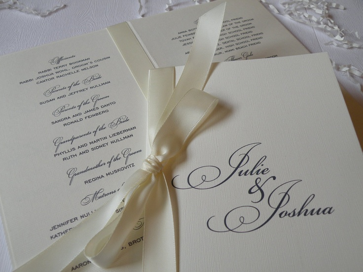 Elegant Wedding Program and Accessories. $3.75, via Etsy.