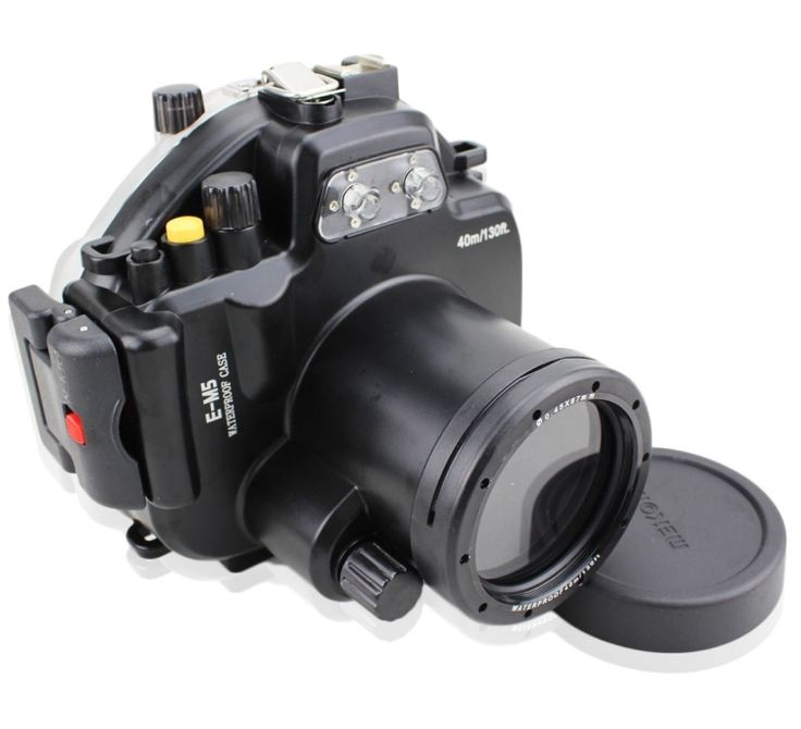 258.72$  Watch now - http://alik7m.worldwells.pw/go.php?t=2034438548 - 40M Waterproof Underwater Camera Housing Case Bag for Olympus OMD EM5 Camera 12-50mm Lens