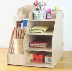 Organizador Multifuncional con niveles papelero para escritorio