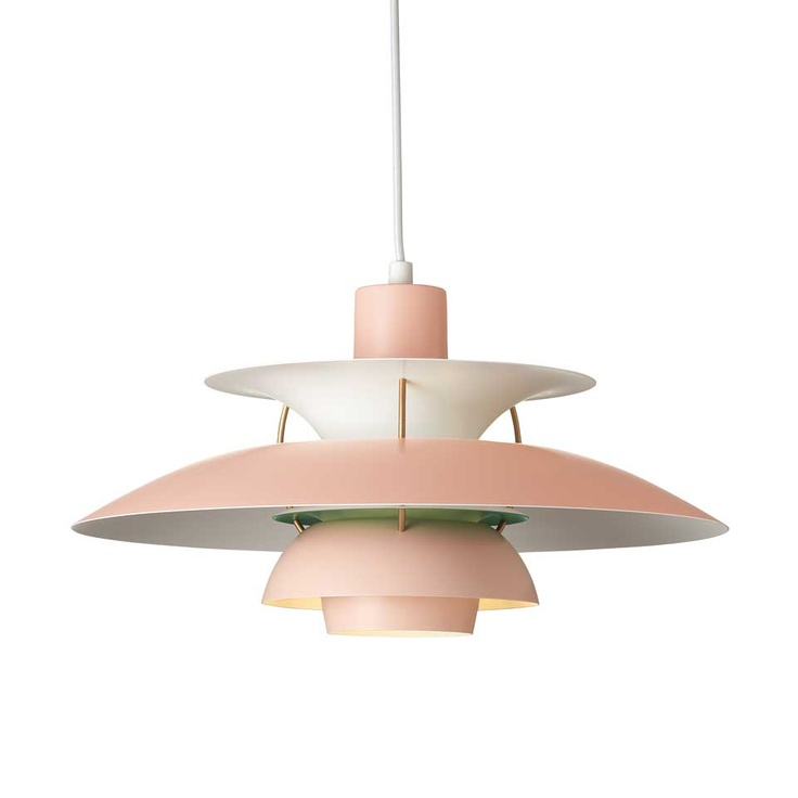 Louis Poulsen - PH5 Pendant in Pale Rose/Green. For more information and inspiration have a look here: http://www.shop.louispoulsen.dk/