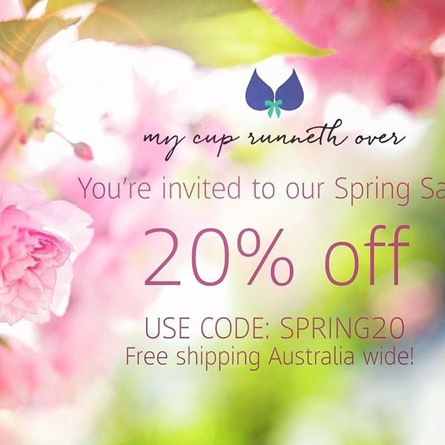 SPRING SALE! 🐣🌸 20% off everything AND free shipping Australia wide 🙌🏼 If you know any big busted ladies in need of a treat, be sure to tag them below 😘