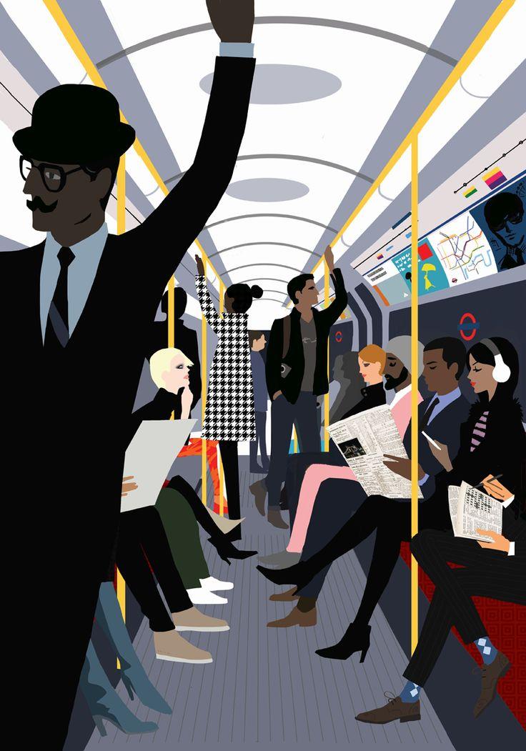 London Sketchbook by Jason Brooks. The Book Illustration Award at V&A Illustration Awards 2016 went to Jason Brooks for his London Sketchbook, published by Laurence King.