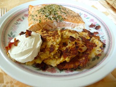 CAULIFLOWER, CHEDDAR 'N BACON FRITTERS ~ you won't be disappointed!  Please visit us at: https://www.facebook.com/LowCarbingAmongFriends