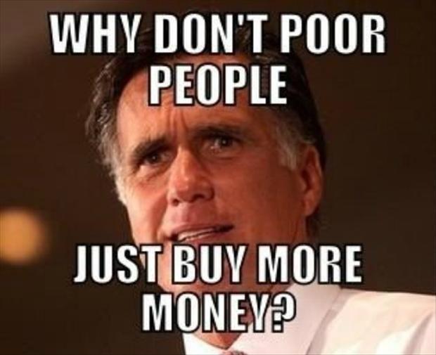 Poor People to dumb to buy more money.