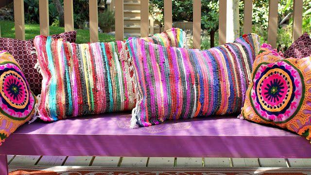 no sew Rag Rug pillows - Mark Montano