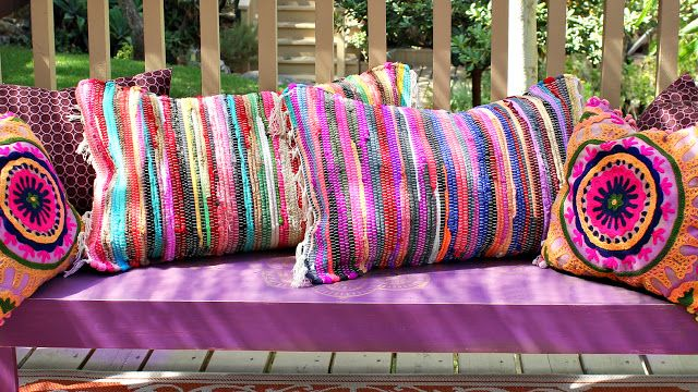 no sew Rag Rug pillows - Mark Montano
