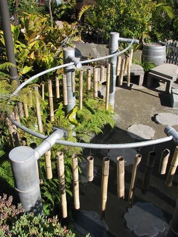 Amazing music garden in the childrens garden at the San Diego Botanical Garden aka Quail Gardens. Bamboo chimes!