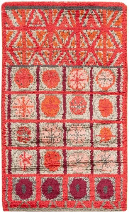 Anonymous; Wool Rya Rug, c1955.