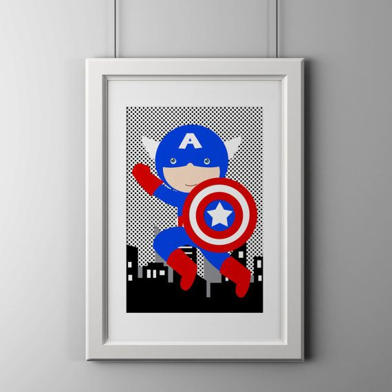 15 best images about superhero decor on pinterest wall Captain america wall decor