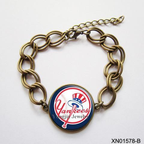 Yankees Bracelet baseball jewelry Romantic Style  Big Bracelet