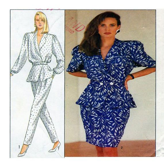 Simplicity 8431 Size 12 Bust 34 Women Sewing Pattern Pant