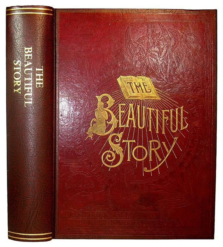 1887 Antique BIBLE God CREATION Noah's Ark HOLY LAND